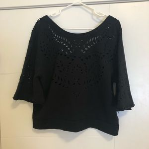 Free People Cropped Cutout Top